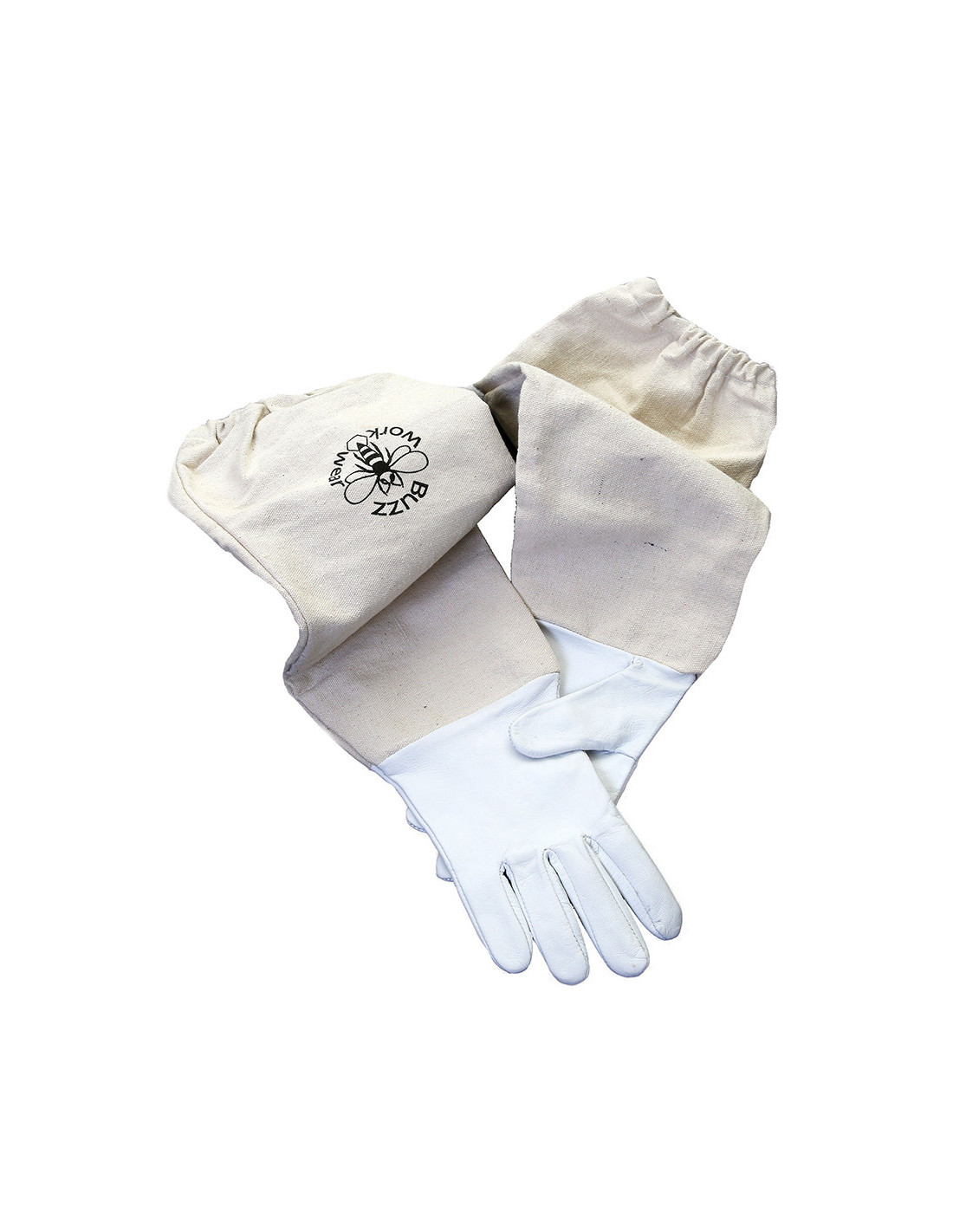 S Buzz Work Wear Beekeepers White Soft Hide Leather Gloves