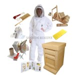 7 COMLETE PACKAGE WITH 14_ X 12_ BROOD BOX AND WHITE SUIT